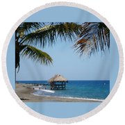 Paradise Escape Round Beach Towel