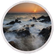 Paradise Flow Round Beach Towel by Mike  Dawson