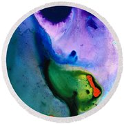 Paradise Found - Colorful Abstract Painting Round Beach Towel
