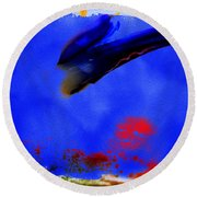 Paradise Is A Bird Round Beach Towel