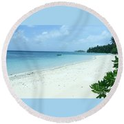 Paradise Is Here Round Beach Towel
