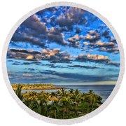 Paradise Is Nice By Diana Sainz Round Beach Towel