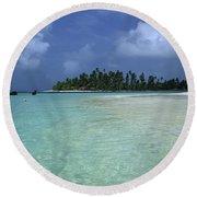 Paradise Island 1 Round Beach Towel