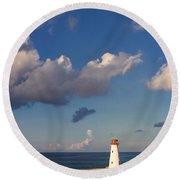 Paradise Island Lighthouse Round Beach Towel by Stephanie McDowell