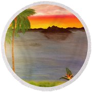 Paradise Lost Round Beach Towel