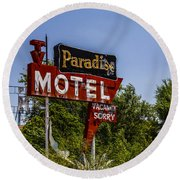 Paradise Motel Round Beach Towel