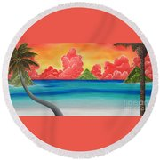Paradise Panorama Round Beach Towel