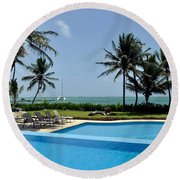 Paradise Vacation Round Beach Towel