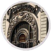 Paramount - Broadway - Nyc Round Beach Towel