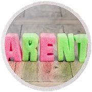 Parents Round Beach Towel by Tom Gowanlock