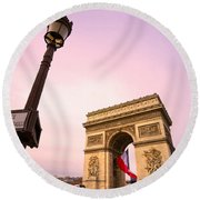 Paris - Arc De Triomphe  Round Beach Towel