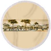 Paris 1878 Round Beach Towel