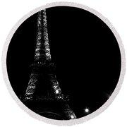 Paris At Night Round Beach Towel