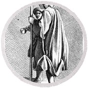 Paris Beggar, C1740 Round Beach Towel