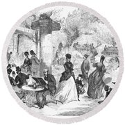 Paris: Boulevard, 1872 Round Beach Towel