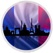 Paris City Round Beach Towel