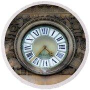Paris Clocks 1 Round Beach Towel
