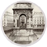 Paris Fountain, C1858 Round Beach Towel