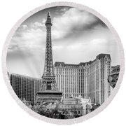 Paris Las Vegas Round Beach Towel