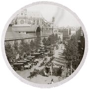 Paris: Les Halles, C1900 Round Beach Towel