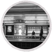 Paris Metro - Franklin Roosevelt Station Round Beach Towel