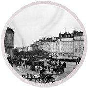 Paris Montparnasse, C1900 Round Beach Towel