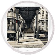Paris - Old Man Round Beach Towel