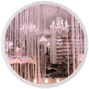 Paris Repetto Ballerina Tutu Shop - Paris Ballerina Dresses Window Display  Round Beach Towel