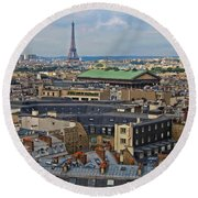 Paris Rooftops Round Beach Towel