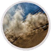 Park Alley Steam Round Beach Towel