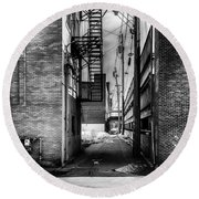 Park Alley Sunset Round Beach Towel by Bob Orsillo