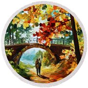 Park Bridge Round Beach Towel