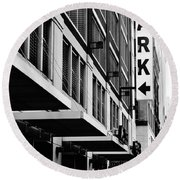 Park... Bw... Detroit Round Beach Towel