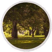 Park By The Rivers Round Beach Towel