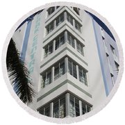 Park Central Building - Miami Round Beach Towel
