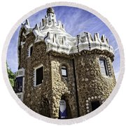 Park Guell - Barcelona - Spain Round Beach Towel
