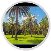 Park Open Area 2 Round Beach Towel