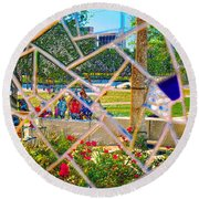 Park Reflections Round Beach Towel