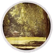 Park Shelter Filtered Round Beach Towel