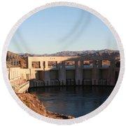 Parker Canyon Dam Round Beach Towel