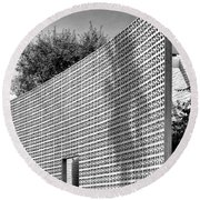 Parker Shadow Palm Springs Round Beach Towel by William Dey