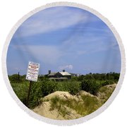 Parking By Permit - Town Of Southhampton Round Beach Towel