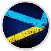 Parking Lot Round Beach Towel