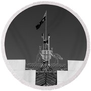 Parliament Entrance Round Beach Towel