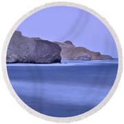 Parque Natural Cabo De Gata Almeria Spain Round Beach Towel