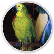 Parrot Round Beach Towel by George Wesley Bellows