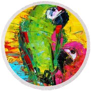 Parrot Lovers Round Beach Towel