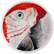 Parrot Round Beach Towel