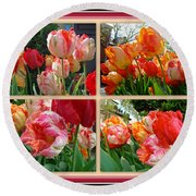 Parrot Tulips In Springtime Philadelphia Round Beach Towel
