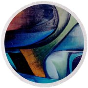 Part Of An Abstract Painting Round Beach Towel